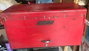 1948 Snap On Model Kr 56 Tool Chest Top Box Good Condition 6 Drawer
