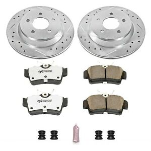 K1306 26 Powerstop Brake Disc And Pad Kits 2 wheel Set Rear New For Ford Mustang