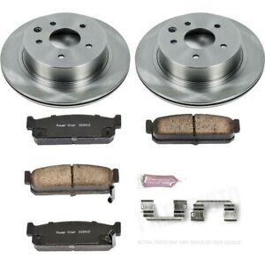 Koe5032 Powerstop 2 wheel Set Brake Disc And Pad Kits Rear New For Infiniti Q45