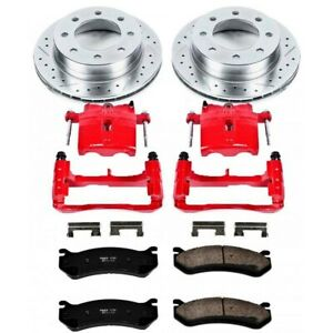 Kc1568 Powerstop Brake Disc And Caliper Kits 2 Wheel Set Rear For Chevy Camaro