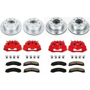 Kc1548 Powerstop Brake Disc And Caliper Kits 4 Wheel Set Front Rear For Chevy