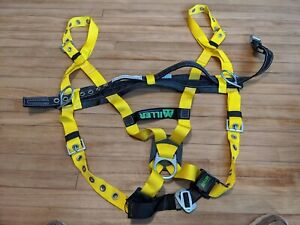 Miller 8428 14 lyk Standard Fall Protection Harness Large With 6414nh lbk Belt