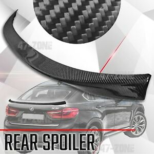 High Quality Black Real Carbon Fiber Rear Spoiler Wing For 2014 2017 Bmw X6 F16