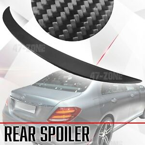 Matte Black Carbon Fiber Rear Spoiler Wing For 16 18 Mercedes Benz E Class W213