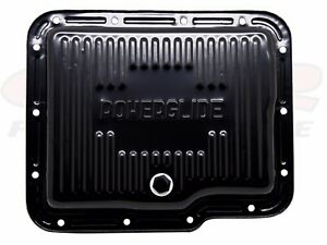 Black Steel Stock Capacity Transmission Pan For Chevy Gm Powerglide