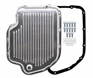 Polished Aluminum Transmission Pan Kit For Chevy Gm Turbo 400 Th 400
