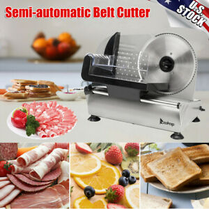 Electric Meat Slicer 7 5 Blade Deli Bread Food Cheese Kitchen Cutter Machine