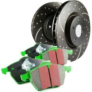 S10kf1474 Ebc 2 wheel Set Brake Disc And Pad Kits Front New For Vw Fox 1987 1993