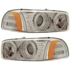 111191 Anzo Headlight Lamp Driver Passenger Side New For Yukon Lh Rh Gmc 99 06
