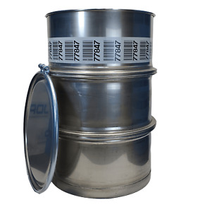 Used 55 Gallon Stainless Steel Barrel Drum Open Top 316 Sanitary 1