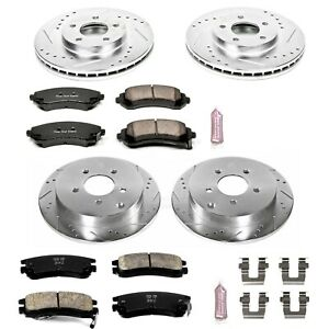 K4383 Powerstop Brake Disc And Pad Kits 4 wheel Set Front Rear New For Chevy