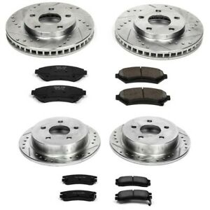 K2554 Powerstop 4 wheel Set Brake Disc And Pad Kits Front Rear New For Olds