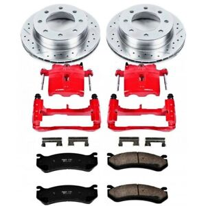 Kc2553 Powerstop 2 wheel Set Brake Disc And Caliper Kits Front For Chevy Olds