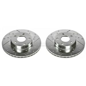 Ar8234xpr Powerstop Brake Discs 2 Wheel Set Front Driver Passenger Side New