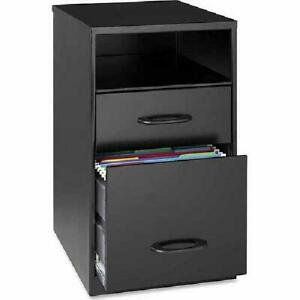 Lorell 2 Drawers Vertical Steel Filing Cabinet Black