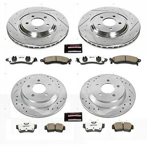 K1305 26 Powerstop 4 Wheel Set Brake Disc And Pad Kits Front Rear New For Ford