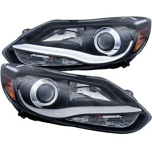 121490 Anzo Headlight Lamp Driver Passenger Side New Lh Rh For Ford Focus