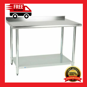 Stainless Steel Work Table 30 x 48 With Undershelf Kitchen 2 Upturn Commercial