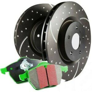 S10kr1027 Ebc Brake Disc And Pad Kits 2 wheel Set Rear New For Chevy Olds Impala