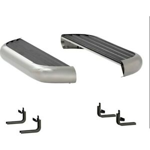 575036 570741 Luverne Set Of 2 Running Boards New Polished For Mercedes Pair