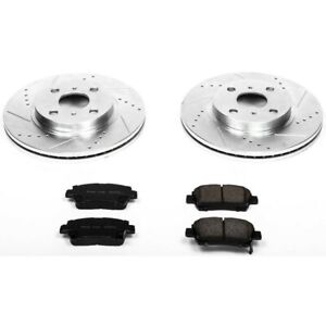 K5401 Powerstop 2 wheel Set Brake Disc And Pad Kits Front New For Vw Beetle Golf