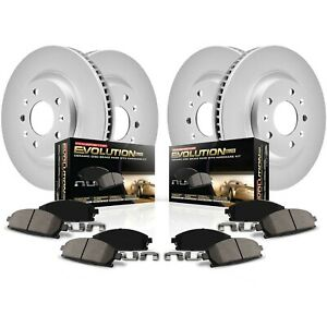 Crk1548 Powerstop 4 Wheel Set Brake Disc And Pad Kits Front Rear New For Chevy