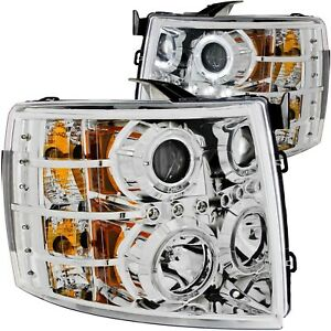 111199 Anzo Headlight Lamp Driver Passenger Side New For Chevy Lh Rh Chevrolet
