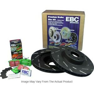 S2kr1221 Ebc 2 wheel Set Brake Disc And Pad Kits Rear New For Ford Mustang 87 93