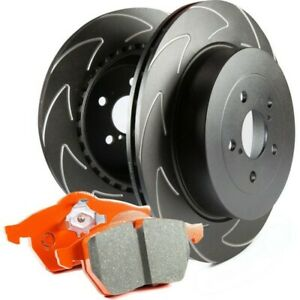 S7kr1028 Ebc 2 wheel Set Brake Disc And Pad Kits Rear New For Ford Mustang 99 04