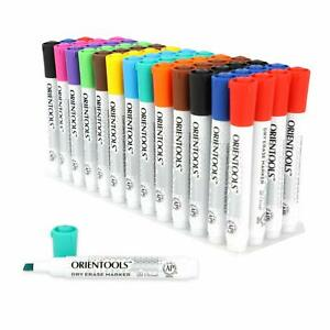 Dry Erase Markers bulk Pack Of 52 w Chisel Tip 12assorted Colors W Low odor Ink