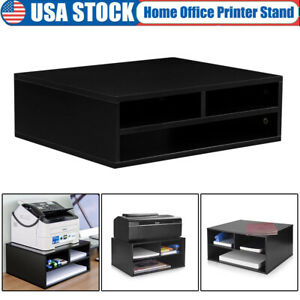 Printer Stand With Storage Shelf Holder workspace Desk Organizer For Home Office