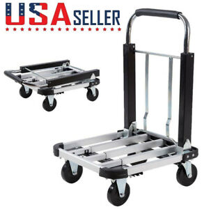 330lbs Platform Cart Dolly Folding Moving Warehouse Push Hand Truck Trolley Cart