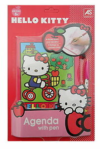 Hello Kitty Red Agenda Diary Notepad With Pen