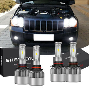For Jeep Grand Cherokee 2005 2010 Hi lo 6000k Led Headlight White Light Bulb Kit