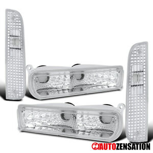 For 1997 2001 Jeep Cherokee Clear Corner Turn Signal Lights bumper Lamps Pair
