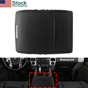 Black Fits Ford F150 F250 Truck 2012 2019 Center Armrest Console Lid Cover Us