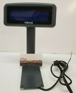 Used Micros 700827 105 Lcd Pole Display For Workstation 4 5 Replacement
