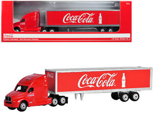 Classic Long Hauler Tractor Trailer Coca-Cola Red 1 87 (HO) Scale Diecast Model