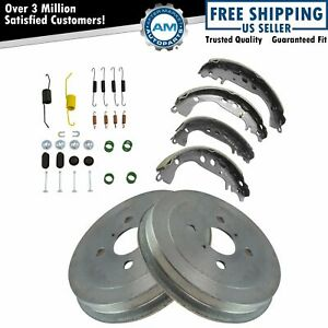 Rear Brake Drums Shoes Hardware Kit For Scion Xa Xb New