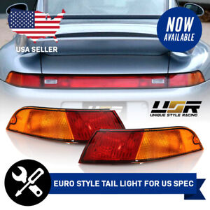 Euro Red amber Left Right Tail Light For Us Spec 95 98 Porsche 911 Carrera 993