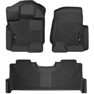Set h2153361 Husky Liners Floor Mats Front New Black For F250 Truck F350 F450