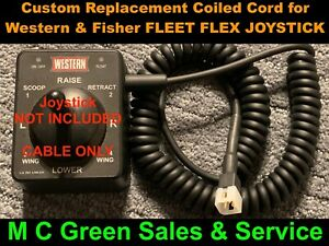 Western Fleet Flex Snow Plow 4pin Joystick Controller Custom Coiled Repair Cable