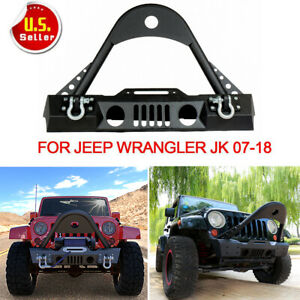 For 07 18 Jeep Wrangler Jk Wrecking Front Bumper W Fog Light Hole D rings Jk Nt
