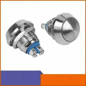 Stainless Steel Metal 12mm Start Horn Button Momentary Push Button Switch