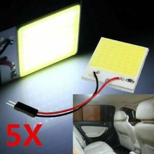 5x 48smd Cob White Panels Led T10 Car Interior Panel Light 12v Dome Lamp Bulb 4w