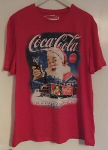MENS COCA COLA XMAS CHRISTMAS 'HOLIDAYS ARE COMING' TRUCK FESTIVE T-SHIRT XXL