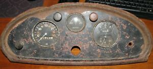 Antique 1930 S Ac Spark Plug Co Chevy Ford Hot Rat Rod Cluster Speedo Gauge Dash