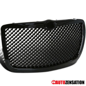 2004 2005 2010 Chrysler 300 300c Bentley Style Glossy Black Grille