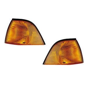 Parking Corner Signal Lights Pair Set For 92 99 Bmw 3 Series E36 Coupe