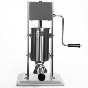 Vertical Sausage Stuffer Sausage Maker Hand Crank Stainless Steel 5 pounds